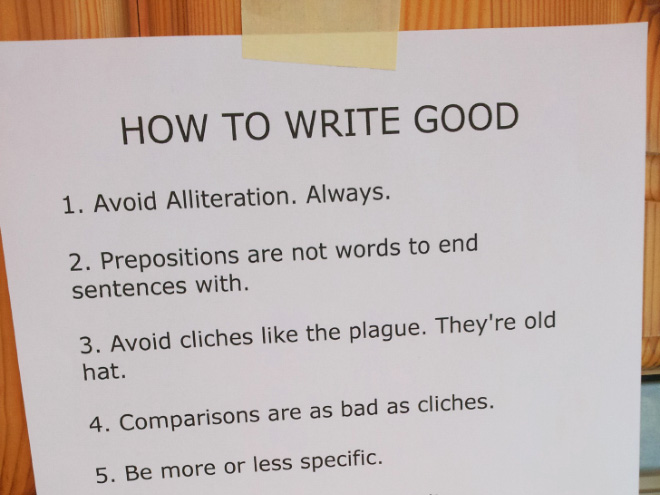 how to write a good ab