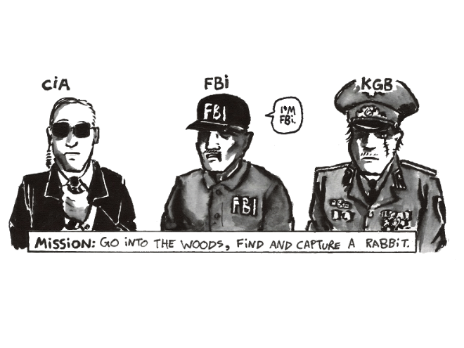 CIA vs  FBI vs  KGB