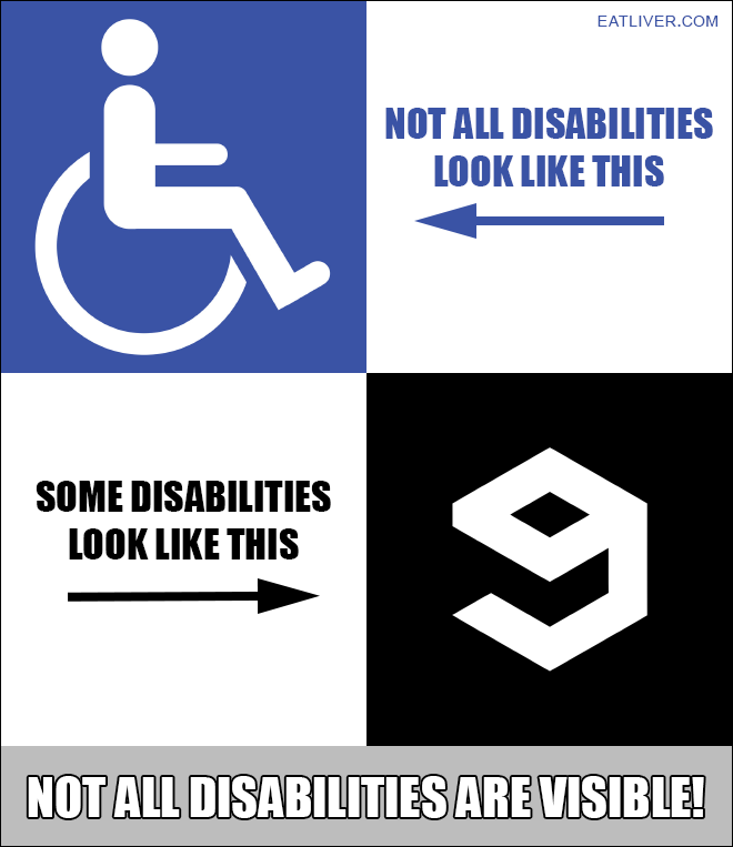 not all disabilities are visible - 660×763