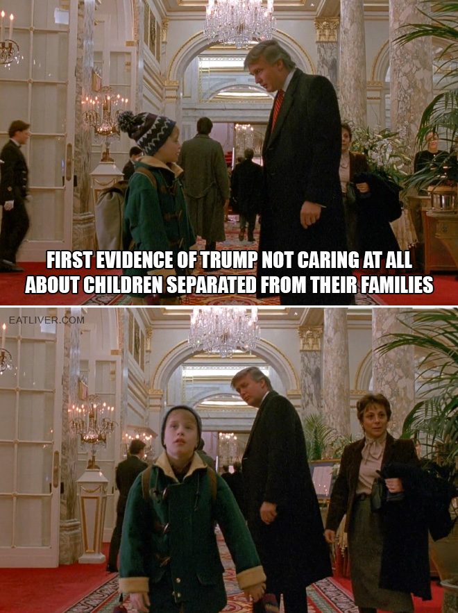 First evidence of Trump not caring at all about children separated from their families.