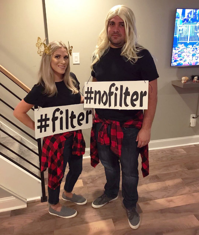 #nofilter and #filter Halloween costumes.