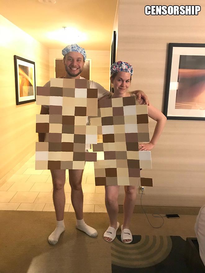 Censorship Halloween costume.