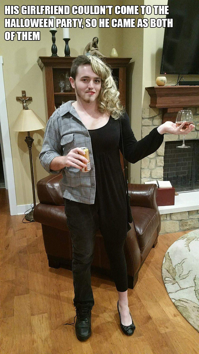 The lonely guy Halloween costume.