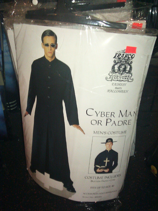 Cyber man or padre costume.