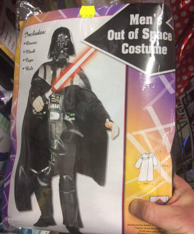 Darth Vader Halloween costume.