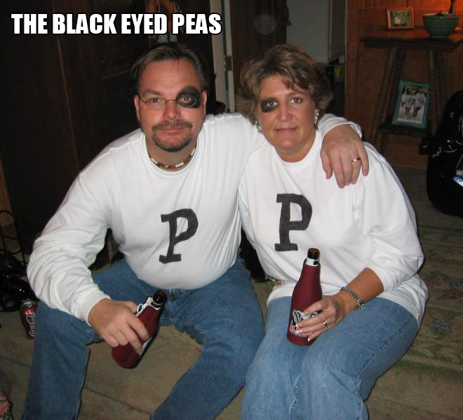 The black eyed peas costume.