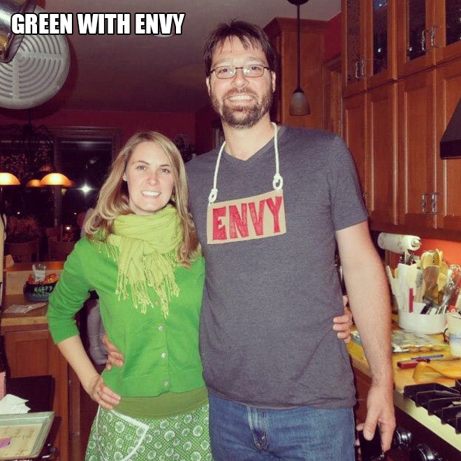Green with envy costume.