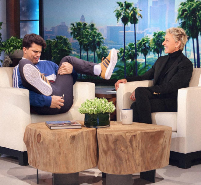Hanging out with Ellen.