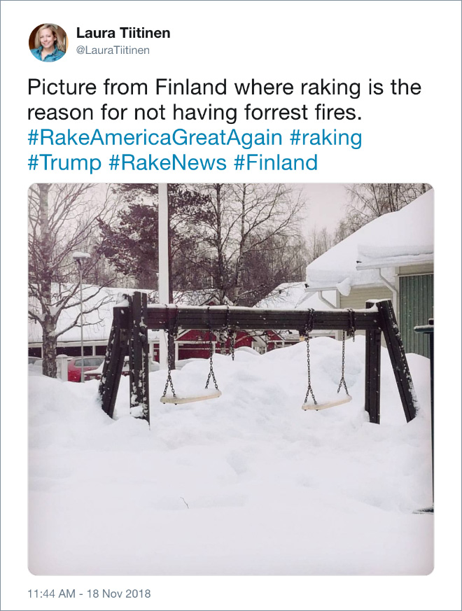 Why Finland's are not on fire.