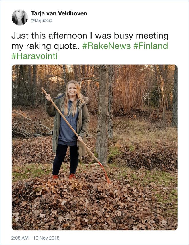 Meeting the raking quota.
