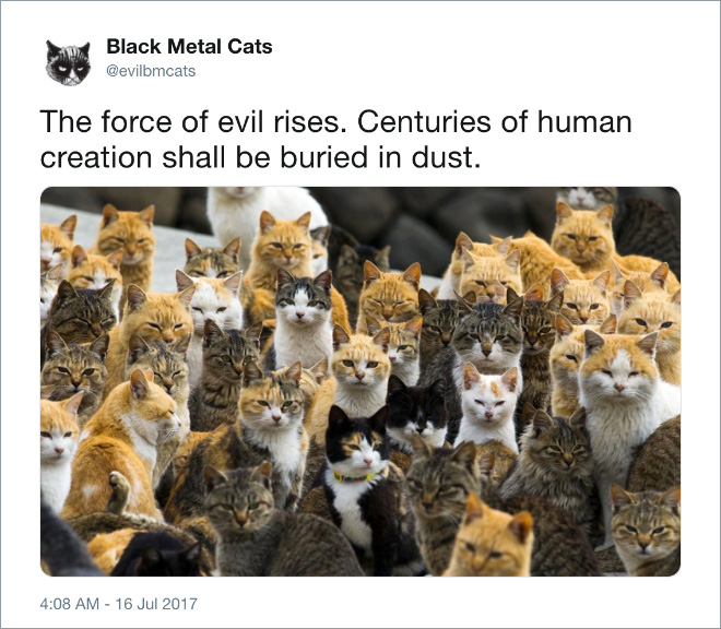 The force of evil rises. Centuries of human creation shall be buried in dust.