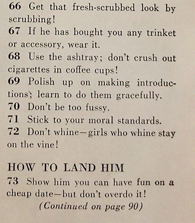 How to land a husband.