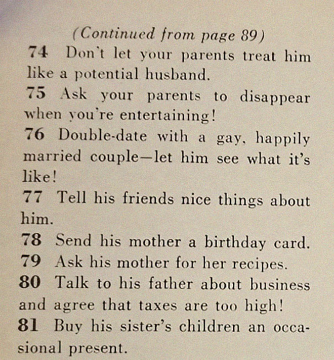 Women, this is how you land a husband.