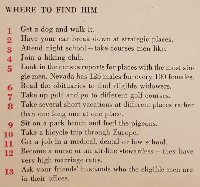 Where to find a husband.