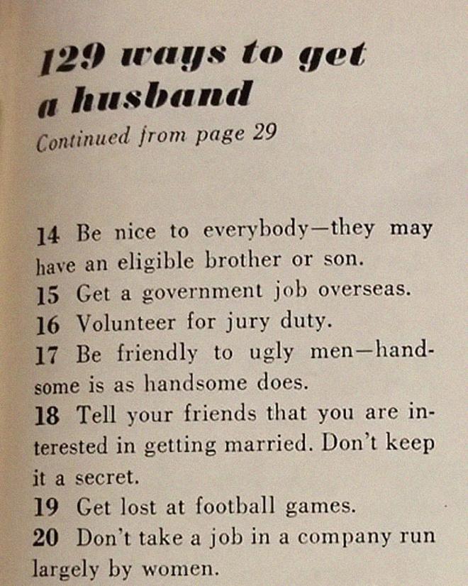 129 ways to get a husband.