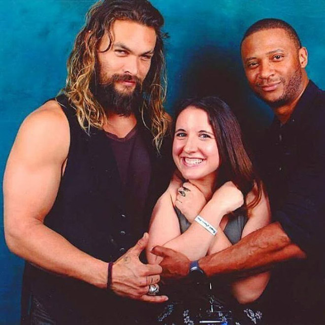 Jason Momoa stealing this guy's girlfriend.