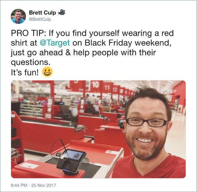 Sometimes wearing red to Target is fun.