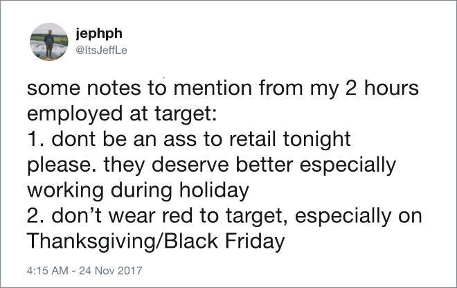 Some notes to mention from my 2 hours of employment by Target.