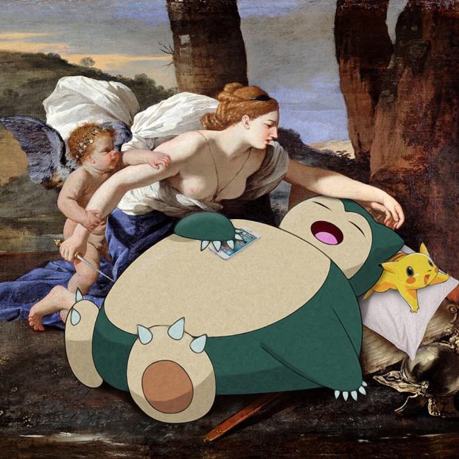 Pokemon meets art.