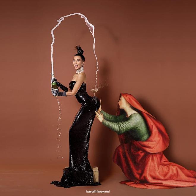 Kardashian meets art.