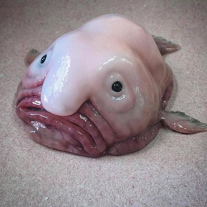 Awkward deep sea creature.