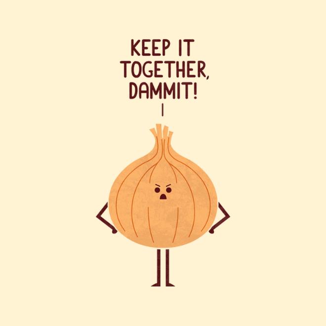 Angry onion.