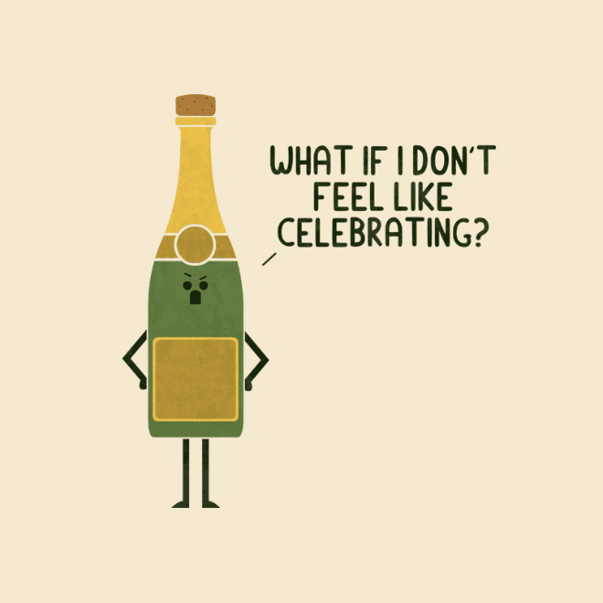 Angry champagne.
