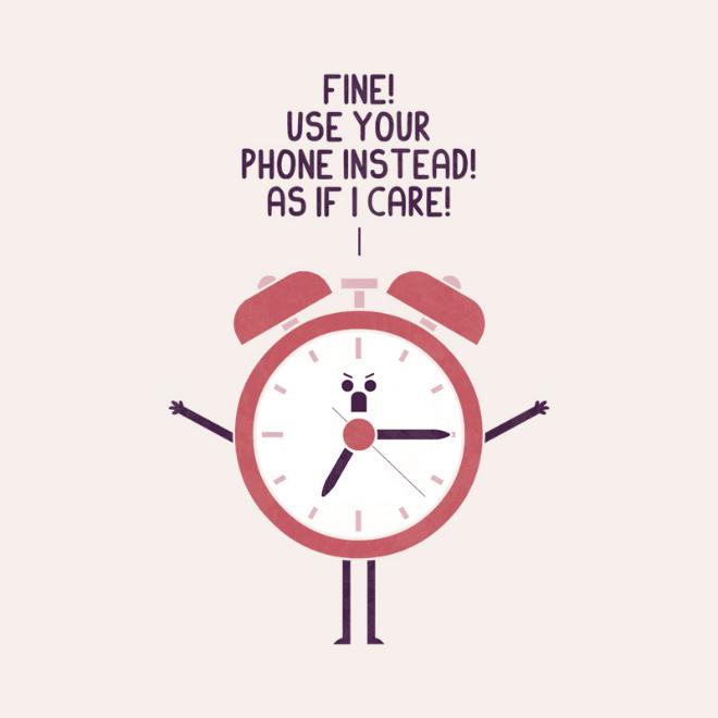 Angry clock.