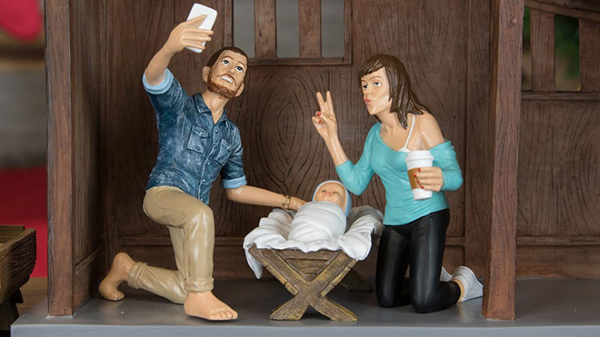 Hipster parent to baby Jesus.