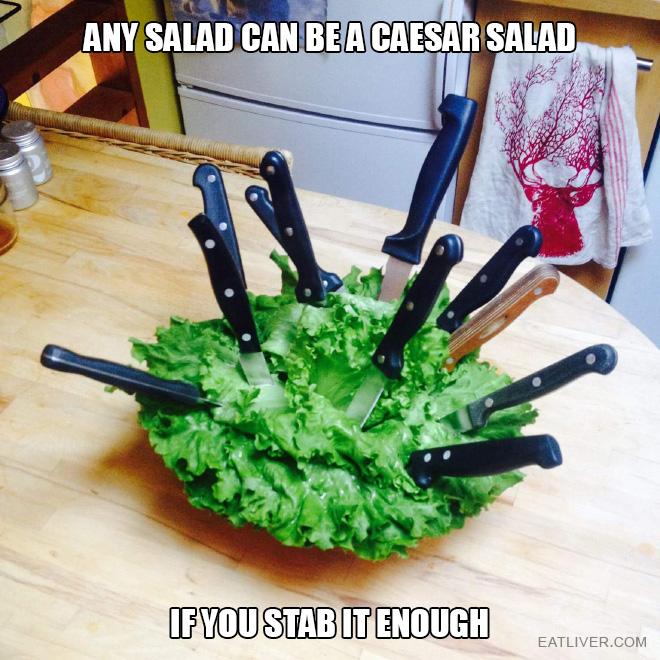 How to make caesar salad.