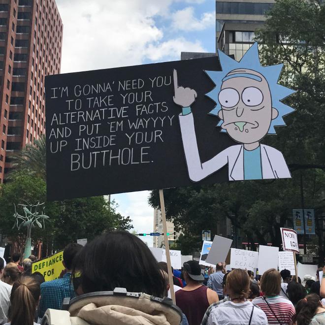 Trump's alternative facts.