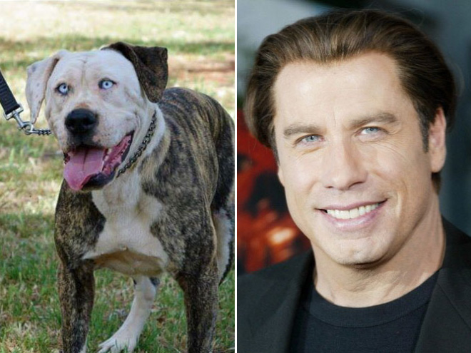 Travolta and his double.