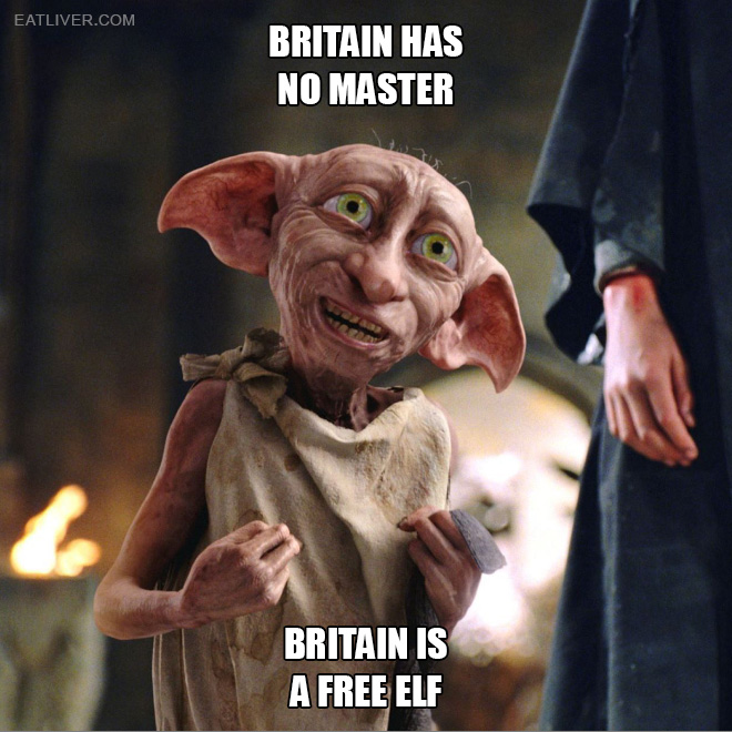 Britain is a free elf.