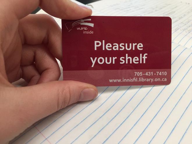 Brilliant library card.