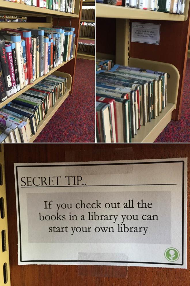 Secret tip.