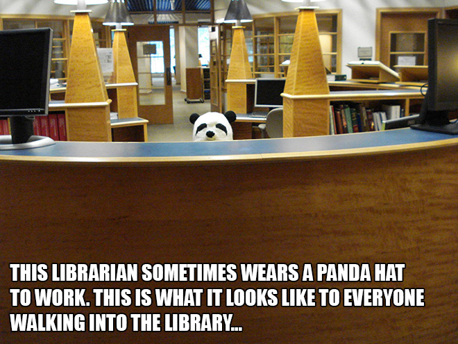 Mean while in the local library...