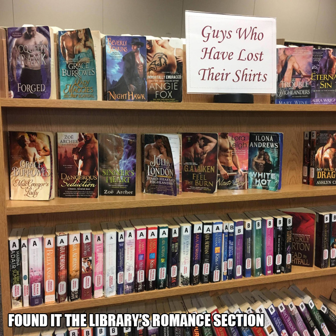 Meanwhile in a library...
