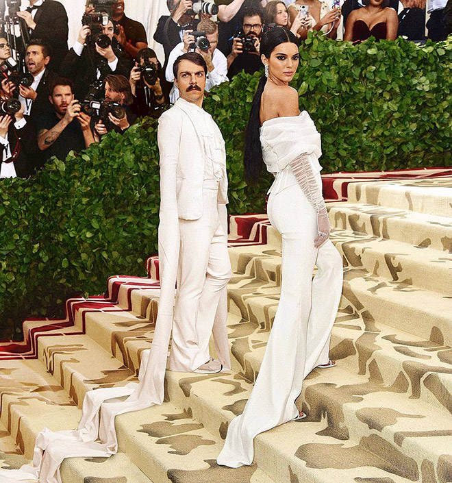 Kendall Jenner posing with Kirby Jenner.