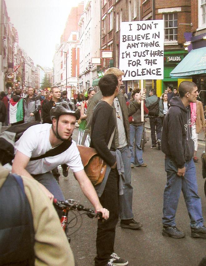 Brilliant protest sign.