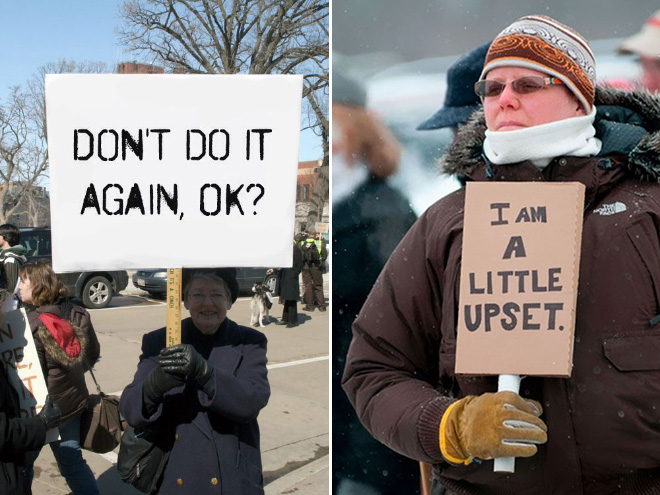 Canadian protesters.
