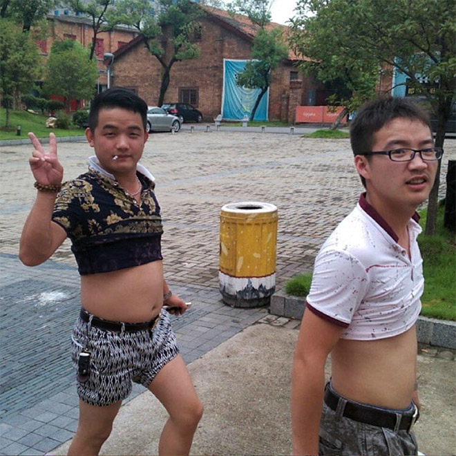 Chinese shirt rollers.