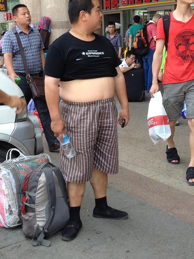 Public display of a huge gut.