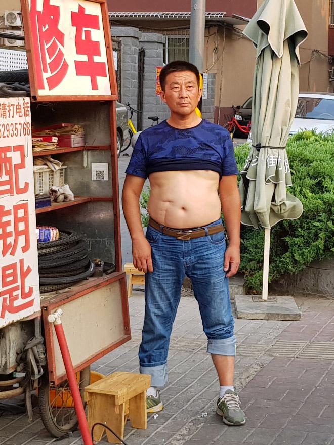 Proud display of the Beijing bikini.