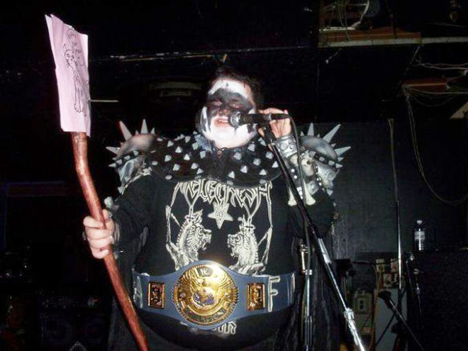 Heavy metal dude from hell.