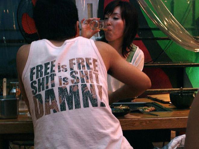 Free is free. Shit is shit. DAMN!