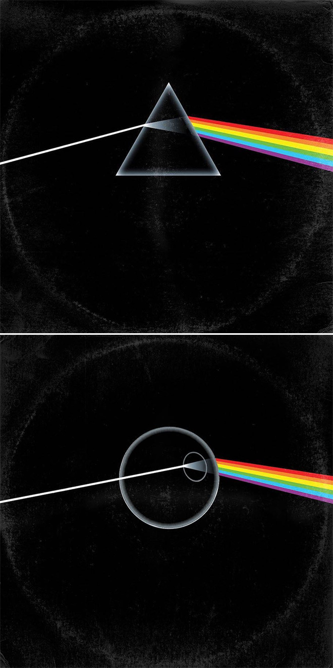 Pink Floyd album cover improved with Star Wars characters.