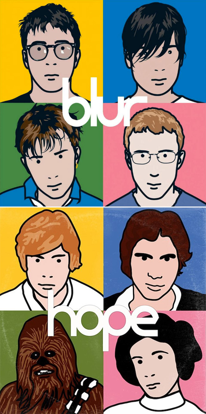 Blur album cover improved with Star Wars characters.