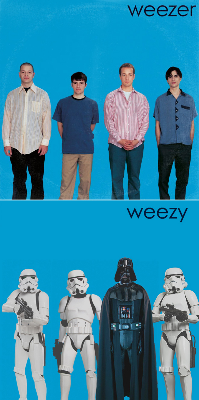 Weezer album cover improved with Star Wars characters.