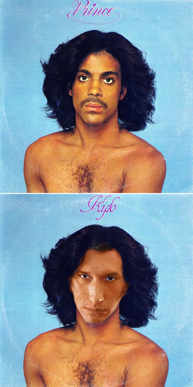 Prince album cover improved with Star Wars characters.