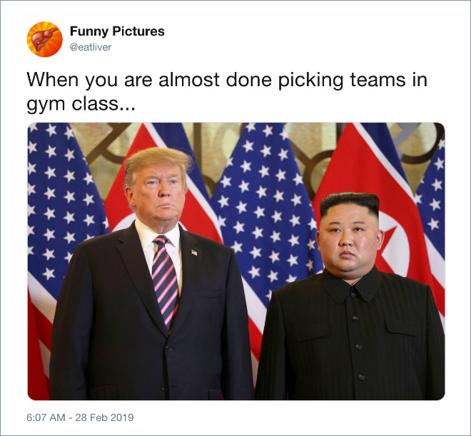 When you are almost done picking teams in gym class...